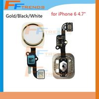 flex caps - High Quality Home Button with Flex Cable Assembly for iPhone quot inch Silver Gold Black Key Cap Replacement Parts