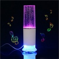 Cheap LED Light Dancing Water Bluetooth Speakers Fountain Mini HiFi Stereo for iPhone Laptop PC Phone MP3 Player Valentine's Day gift