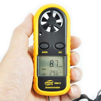 Wholesale GM816 Digital Backlight Airflow Wind Speed Gauge Meter Anemometer Thermometer Speed Measuring Instruments