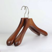 Wholesale wood hanger clothing hangers whole sale clothes rack hanger support adult ladies