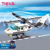 Wholesale Helicopter particle building blocks children s educational fight inserted plastic building blocks of creative toy model