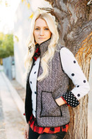 Wholesale Real Photos Herringbone Quilted Cotton Puffer Vest Plus Size S XL Designer Inspired Women Outfit Latest New