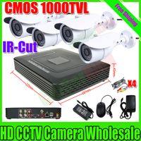 Wholesale 1000TVL Surveillance CCTV System ch Full D1 DVR IR Cameras Surveillance System with IR Cut Filter ch DVR Kit