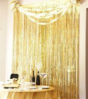 Wholesale Long Foil Fringe Curtains Shimmer Tinsel Curtains Christmas Decor Booth Background Hanging Foil Curtains Hot Sale SD bdg