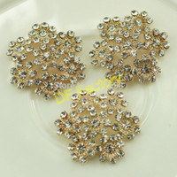 Wholesale 2 cm rhinestone buttons decoration diy wedding garment accessory crystal for craft and white buttons flower