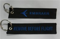 aircraft embraer - Pilot Aviation Key Chain Embraer Aircraft Remove Before Flight Fabric Embroidery Pilot Key Chains Aircraft Airplane Embraer x cm pc