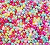 Wholesale 500X Multicolor Round Colorful Plastic Abc Beads mm nail art tool