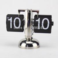 antique table tops - Top quality Vintage Retro Clock Flip clock Stand Desk Table Clock mm