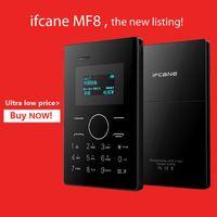 mini mini mp3 - 2015 original Ultra Thin Children Card MP3 iFcane MF8 Mini Mobile Phone Cell pocket older support with Russia Arab keyboard