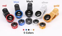 Wholesale 2015 Best selling Universal in1 Clip On Fish Eye Lens Wide Angle Macro Mobile Lens For iPhone Samsung Galaxy S6 All Phones fisheye