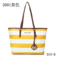 Wholesale Specials latest mk s casual striped shopping bag European and American fashion handbags factory direct O