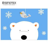 Wholesale 40x60cm Door mat Cartoon animals print tapetes bath mat for Children living room bathroom carpet nylon mats iSINOTEX