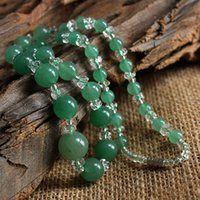 Wholesale Natural Tanglin jade tower chain necklace diy crystal fashion jewelry wild section XL00307