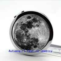 antique makeup compacts - New Arrival Photo Mirror Full Moon Compact Mirror Antique Pocket Mirror Portable Makeup Mirrors