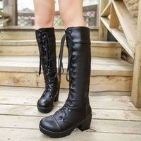leather over knee boots - 2014 over knee women artificial leather flat boots female snow brand warm boot shoes CooLcept XWX442