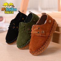 age muscle - Children s shoes For New Autumn Genuine leather Korean Casual shoes Baby boy Single shoes Age Size Color G07