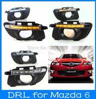 Cheap Mazda 6 LED Driving Lights Kits Daytime Running Light Car Head DRL For Mazda 6 2010-2013