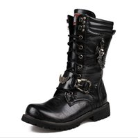 western boots - Fashion men s leather Martin boots Motorcycle boots western boot
