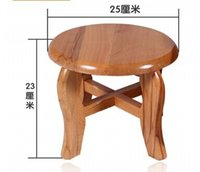 Wholesale Small wooden seat stool solid wood chair table chair
