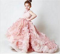 Girl little girls beautiful dresses - Mygirlsdress Customize Beautiful Attractive New Chic lovely Cheap Ball Gown little girls pageant dresses kids party gown Peach