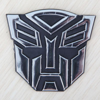 accessories sign decoration - Aluminum Transformers pros No Autobots Decepticons sign car stickers car decoration car stickers supplies