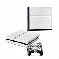 For Kindle new 36271 New Cool 3D Textured Carbon Fiber Sticker Cover For Sony for PS4 Console 2 Controller Protector Decal White Durable