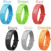 alarm on windows - New Arrive W5 Smart Wristband Smart Watch Sport Bracelet For Windows Slim Silent Vibration Alarm Thermometer Pedometer With USB