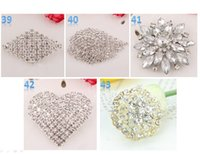 Wholesale Best Brooch Sparkly Silver Clear Rhinestone buckle Crystal Diamante Flower Pins swarovski elements Wedding Cake Pin Brooches wholesales