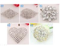 best wedding cakes - Best Brooch Sparkly Silver Clear Rhinestone buckle Crystal Diamante Flower Pins swarovski elements Wedding Cake Pin Brooches wholesales
