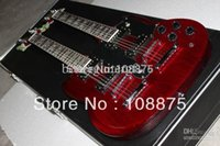 Cheap Free Shipping 2013 Double Neck, Signed Aged , Dark Cherry Guitar #69100% Excellent Quality