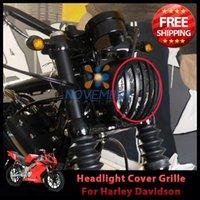 Wholesale Black Motorcycle Motorbike Front Headlight Grill Cover Bezel for Harley Sportster XL XL Billet Aluminum order lt no tr