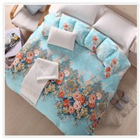 Wholesale 100 Cotton Twill Duvet Set Peonies Flowers Printing Duvet Cover Quilt Cover Comforter Cover Sizes Available Post