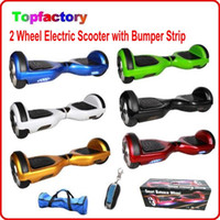 electric scooters - Self Balancing Hoverboard W brushless motor Ah battery Smart Balance Unicycle two wheel Electric Standing Scooter with Bumper strip