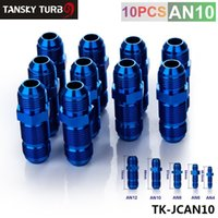 Wholesale Tansky AN AN MALE THREAD STR AIGHT BULKHEAD FLARE BLUE ALUMINUM FINISH FITTING TK JCAN10