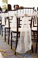 beach chairs - White and Ivory Tying Chair Covers and Sashes for Beach Wedding Party Decorations Sky Blue Organza Celebrations Graduations Chair Bows Sash