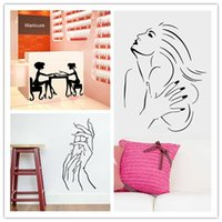 beauty salon names - Wall sticker Nail Bar Shop Hair Beauty Salon Wall Art Decal DIY Home Decoration Mural Removable nail polish oil store name