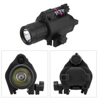 Wholesale Compact Tactical Laser Flashlight Torch Red Laser Sight Combo with Rail Mount for Outdoor Hunting Game Y0314