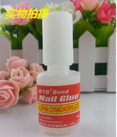 Wholesale High Quality New excellent strong nail glue bond g BYB with brush False French acrylic Tips glue Free EMS