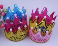 adult king crowns - Luminous crown cap Child Adult Christmas party hat king princess birthday party flash cap
