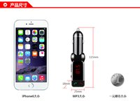 Wholesale 2016 LCD Bluetooth Car Kit MP3 FM Transmitter USB Charger Handsfree For iPhone WEV China Mainland