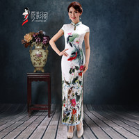 silk clothes - Simple Bridesmaid New Classical Silk High Neck Dresses Cheongsam Women Chinese Wedding Dresses Traditional Clothing Blend Qipao Dresses