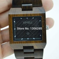 gift items - Hot Sale Top Gift Item Black Ebony Wood Watch Square Face Luxury Wristwatch Wooden Watches for Men Gifts