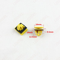Wholesale Automobile Car Door Sill Rail Clips Fastener Trim Strip Retaining Clip Clamp Snaps Black Plastic Gasket For Hyundai Yellow