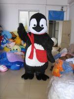 adult penguin costumes - Black penguin Mascot Costume Adult Character Costume mascot costume