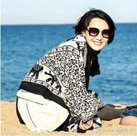 silk twill scarf - 1pcs Fashion Scarf Women Girls Soft elephant cotton twill Smooth Chinese star with New