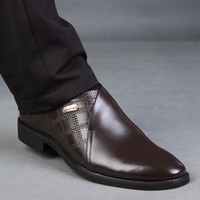 Wholesale Dress Shoes For Men Microfiber Pu Leather Mens Business Shoes Fashion Classics Leather Shoes Male Slip On Round Toe Men Office Shoes H1035