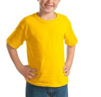 Wholesale Kids Summer Shorts Older - New Summer Kids Boys T-Shirts Solid Color Blank Shirts Childrens Clothing 100% Cotton T-Shirts For 3--8 Years Old Children Clothing
