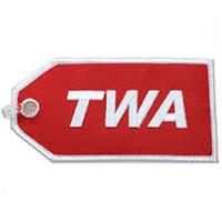 Fabric aircraft logos - TWA Trans World Airways America USA Logo Aircraft Plane Luggage Bag Tag per