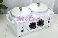 venda por atacado paraffin wax heater-New cera quente DUPLO potenciômetros aquecedor de parafina Salon Use pele Máquina Cuidados Spa