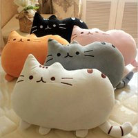 baby soft toys wholesale - Novelty cute soft plush stuffed animal doll baby anime toy pusheen cat for girls kawaii cushion pillow birthday gift